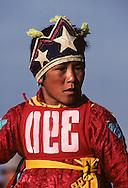 Mongolia. Dalanzadgad  in Gobi desert. Kidís horse race;    /  portraits de jeunes cavaliers  Courses de Chevaux pour le Nadaam   pendant la fete nationale du mois de Juillet