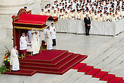 Vatican City oct 18, 2015, holy mass with canonizations in St Peter's Square. In the picture pope Francis
