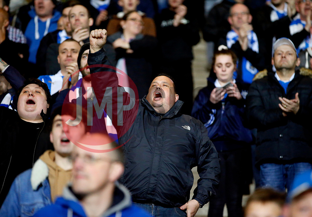 Huddersfield Town fans celebrate - Mandatory by-line: Matt McNulty/JMP - 05/04/2017 - FOOTBALL - The John Smith's Stadium - Huddersfield, England - Huddersfield Town v Norwich City - Sky Bet Championship