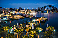 Circular Quay, Overseas Passenger Terminal & Harbour Bridge, Morning