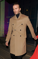 David Beckham and his wife Victoria Beckham leave The Connaught Hotel in Mayfair, having spent around 2 hours inside having a family meal with Victoria's sister Louise Adams, and her parents Jackie Adams and Anthony Adams.<br /><br />14 December 2017.<br /><br />Please byline: Will/Vantagenews.com