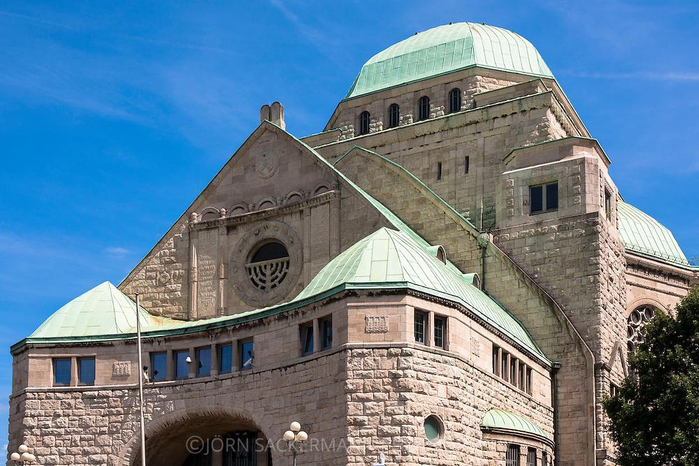 DEU, Germany, Ruhr area, Essen, the old Jewish Synagogue.<br /> <br /> DEU, Deutschland, Ruhrgebiet, Essen, die Alte Juedische Synagoge.