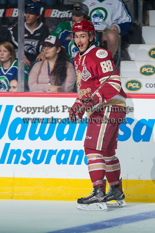 REGINA, SK - MAY 19: Antoine Morand #88 of Acadie-Bathurst Titan skates against the Swift Current Broncos at the Brandt Centre on May 19, 2018 in Regina, Canada. (Photo by Marissa Baecker/CHL Images)