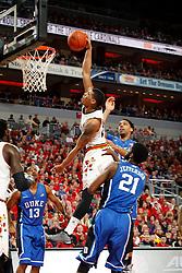 Louisville guard/forward Wayne Blackshear. <br /> <br /> The University of Louisville hosted Duke University, Saturday, Jan. 17, 2015 at The Yum Center in Louisville. <br /> <br /> Duke won the game 63-52.
