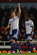 Picture by David Horn/Focus Images Ltd +44 7545 970036<br /> 23/11/2013<br /> Frank Lampard of Chelsea celebrates scoring his first goal of the game during the Barclays Premier League match at the Boleyn Ground, London.