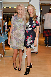 Left to right, singer-songwriter KYLA LA GRANGE and actress FELICITY GILBERT at the French Connection #NeverMissATrick Launch Party held at French Connection, 396 Oxford Street, London on 23rd July 2014.