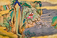 République d'Irlande, Dublin, le musée Chester Beatty, peinture du milieu du 17e siècle, Japon // Republic of Ireland, Dublin, Chester Beatty Museum at the castle garden, painting from mid-17th century, Japan