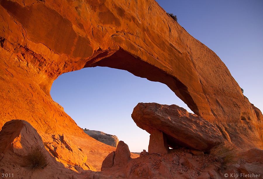 Eye of the Arch. Just outside Moab, near Canyonlands National Park, Utah - 10/28/2011.
