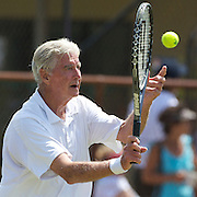 John Powless, USA, in action in the  75 Mens Singles  during the 2009 ITF Super-Seniors World Team and Individual Championships at Perth, Western Australia, between 2-15th November, 2009.