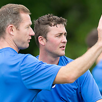 St Johnstone Pre-Season Training...07.07.14<br /> Frazer Wright and Tom Scobbie<br /> Picture by Graeme Hart.<br /> Copyright Perthshire Picture Agency<br /> Tel: 01738 623350  Mobile: 07990 594431