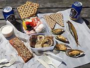 Skanör. Smoked fish and seafood.