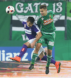 23.10.2016, Allianz Stadion, Wien, AUT, 1. FBL, SK Rapid Wien vs FK Austria Wien, 12 Runde, im Bild Christoph Martschinko (FK Austria Wien) und Louis Schaub (SK Rapid Wien) // during Austrian Football Bundesliga Match, 12th Round, between SK Rapid Vienna and FK Austria Wien at the Allianz Stadion, Vienna, Austria on 2016/10/23. EXPA Pictures © 2016, PhotoCredit: EXPA/ Thomas Haumer