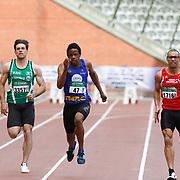 Kapenda Raphael (#47, SMAC) lors des Intercercles Div Nationale Hommes d'athlétisme qui se sont déroulés à Bruxelles (Stade Roi Baudouin) le 14/05/2017.