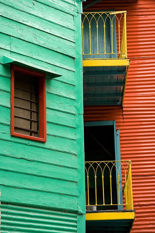 Facade in La Boca, Buenos Aires, Argentina