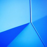 Abstract blue pattern with lines at the british science museum