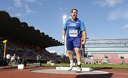 July 10, 2018 - Tampere, Suomi Finland - 180710 Friidrott, Junior-VM, Dag 1: Adrian Piper USA  competes in Shot Put  during the IAAF World U20 Championships day 1 at the Ratina stadion 10. July 2018 in Tampere, Finland. (Newspix24/Kalle Parkkinen) (Credit Image: © Kalle Parkkinen/Bildbyran via ZUMA Press)
