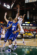 November 26th, 2010:  Anchorage, Alaska - St. John's senior forward Justin Brownlee (32) floats up a shot in the Red Storm's semi final game of the Great Alaska Shootout against the Drake Bulldogs.  The Red Storm defense held Drake to a tournament low score as St. Johns advanced to the final game 82-39.