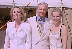 Left to right, MR & MRS GALEN WESTON and their daughter MISS ALANNAH WESTON, at a polo match in Berkshire on 27th July 1997.MAR 132