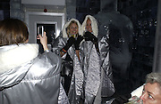Sarah Latimer-Jones, Jodie Waldron,  Jodie French,. Opening of the Absolut Icebar. Heddon St. London. 29 September 2005. ONE TIME USE ONLY - DO NOT ARCHIVE © Copyright Photograph by Dafydd Jones 66 Stockwell Park Rd. London SW9 0DA Tel 020 7733 0108 www.dafjones.com