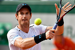 PARIS, June 2, 2017  Andy Murray of Britain returns the ball to Martin Klizan of Slovakia during the men's singles 2nd round match at the French Open Tennis Tournament 2017 in Paris France on June 1, 2017. Andy Murray won 3-1. (Credit Image: © Chen Yichen/Xinhua via ZUMA Wire)