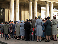 © Licensed to London News Pictures. 25/10/2015. London, UK. Filming for the new Netflix series, 'The Crown' taking place at the Old Royal Naval College in Greenwich, London, with Matt Smith and Claire Foy (not pictured). Photo credit : Graham Long/LNP