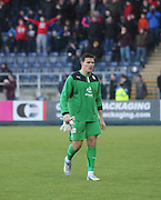 Kyle Letheren trudges off after being red carded - Falkirk v Dundee, SPFL Championship at <br /> Falkirk Stadium<br />  - &copy; David Young - www.davidyoungphoto.co.uk - email: davidyoungphoto@gmail.com