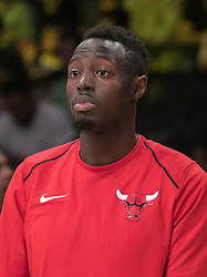 November 21, 2017 - Los Angeles, California, United States of America - Bobby Portis #5 of the Chicago Bulls during warm ups prior to their game with the Los Angeles Lakers on Tuesday November 21, 2017 at the Staples Center in Los Angeles, California. Lakers defeat Bulls, 103-94. JAVIER ROJAS/PI (Credit Image: © Prensa Internacional via ZUMA Wire)