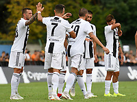 Cristiano Ronaldo celebrates with team mates <br /> Villar Perosa 12-08-2018 Football Calcio 2018/2019 Friendly Match - Amichevole Juventus A Vs Juventus B foto OnePlusNine/Insidefoto