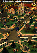 Mini-village, 50's (fifties) town scene, Roadside America, Shartlesville, Berks Co., PA