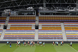 Dutch team during a training session prior to the FIFA World Cup 2018 qualifying match between Belarus and Netherlands on October 06, 2017 at Borisov Arena in Borisov,  Belarus