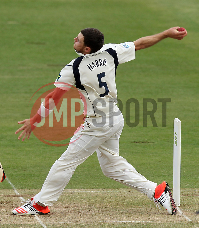 Middlesex's James Harris bowls - Photo mandatory by-line: Robbie Stephenson/JMP - Mobile: 07966 386802 - 03/05/2015 - SPORT - Football - London - Lords  - Middlesex CCC v Durham CCC - County Championship Division One