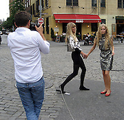 "**EXCLUSIVE**.Keith Richards' daughters, Alexandra Richards and her sister Theodora Richards shooting a page for September 2007 Harper's Bazaar title ""A Day in the Life of The Richards Sisters"" in front of PM Lounge in the Meat Packing District in New York City, NY, USA .Friday, May, 29, 2007.Photo By Celebrityvibe.To license this image call (212) 410 5354 or;.Email: celebrityvibe@gmail.com; ."