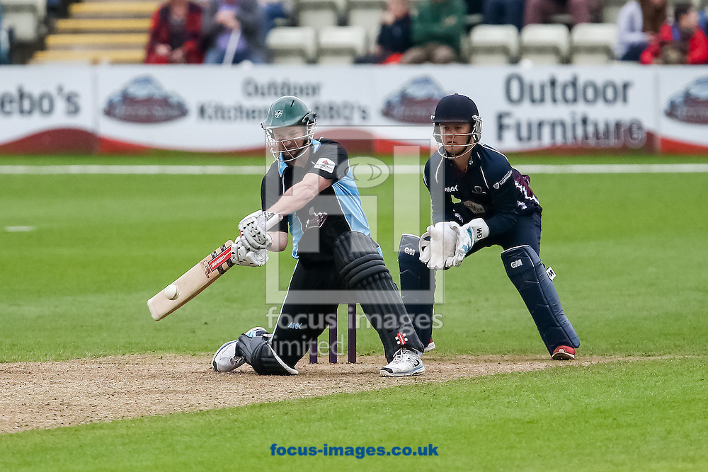 Alexei Kervezee of Worcestershire Rapids hits out during the Natwest T20 Blast match at New Road, Worcester<br /> Picture by Andy Kearns/Focus Images Ltd 0781 864 4264<br /> 30/05/2014