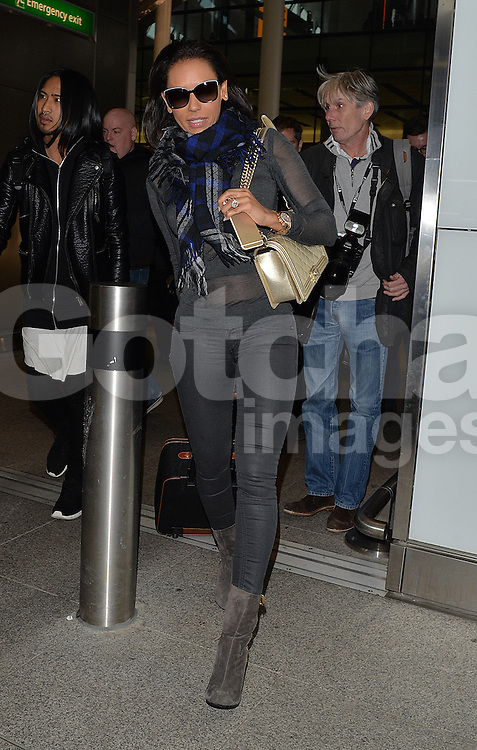 Melanie Brown aka Mel B arriving at Heathrow airport in London, UK. 21/01/2015<br />