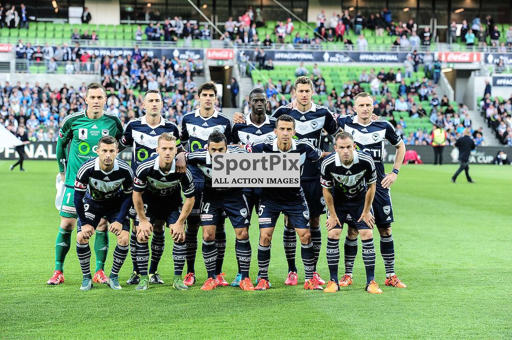 Victory team photo - Westfield FFA Cup Final, 7th November 2015, Melbourne Victory FC v Perth Glory FC - © Mark Avellino | SportPix.org.uk