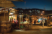 Street markets at night. Ocho Rios, Jamaica. (Photo: Johany Jutras)