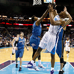 February 1, 2011; New Orleans, LA, USA; New Orleans Hornets power forward David West (30) scores against the Washington Wizards during the second half at the New Orleans Arena. The Hornets defeated the Wizards 97-89.  Mandatory Credit: Derick E. Hingle