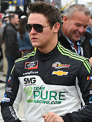 February 23, 2019 - Hampton, GA, U.S. - HAMPTON, GA - FEBRUARY 23: Gray Gaulding, SS Green Light Racing, Chevrolet Camaro walks to his car before the Xfinity Series Rinnai 250 on February 23, 2019, at Atlanta Motor Speedway in Hampton, GA.(Photo by Jeffrey Vest/Icon Sportswire) (Credit Image: © Jeffrey Vest/Icon SMI via ZUMA Press)