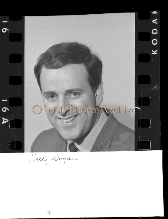 Terry Wogan at Radio Eireann..1965..22.03.1965..03.22.1965..22nd March 1965...Portrait of Mr Terry Wogan, Radio and Television personality. Picture taken at Radio Eireann studios.