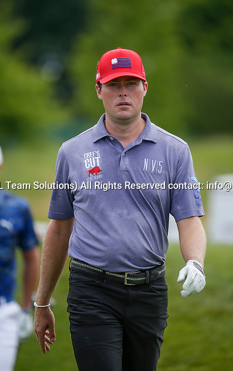 POTOMAC, MD - JULY 01:  Kyle Reifers walks to the 2nd fairway during the third round of the Quicken Loans National at TPC Potomac at Avenel Farm in Potomac, MD.(Photo by Justin Cooper/Icon Sportswire)