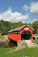 Kings Bridge, spanning Laurel Hill Creek. Laurel Highlands, Somerset County  Pennsylvania