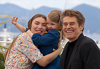 Actress Cristina Chiriac, Anna Ferrara and Willem Dafoe at Tommaso film photo call at the 72nd Cannes Film Festival, Monday 20th May 2019, Cannes, France. Photo credit: Doreen Kennedy