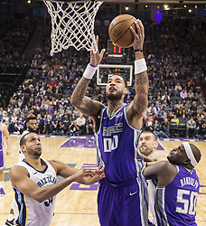 December 31, 2017 - Sacramento, CA, USA - The Sacramento Kings' Willie Cauley-Stein (00) goes to the basket against the Memphis Grizzlies on Sunday, Dec. 31, 2017, at the Golden 1 Center in Sacramento, Calif. (Credit Image: © Hector Amezcua/TNS via ZUMA Wire)