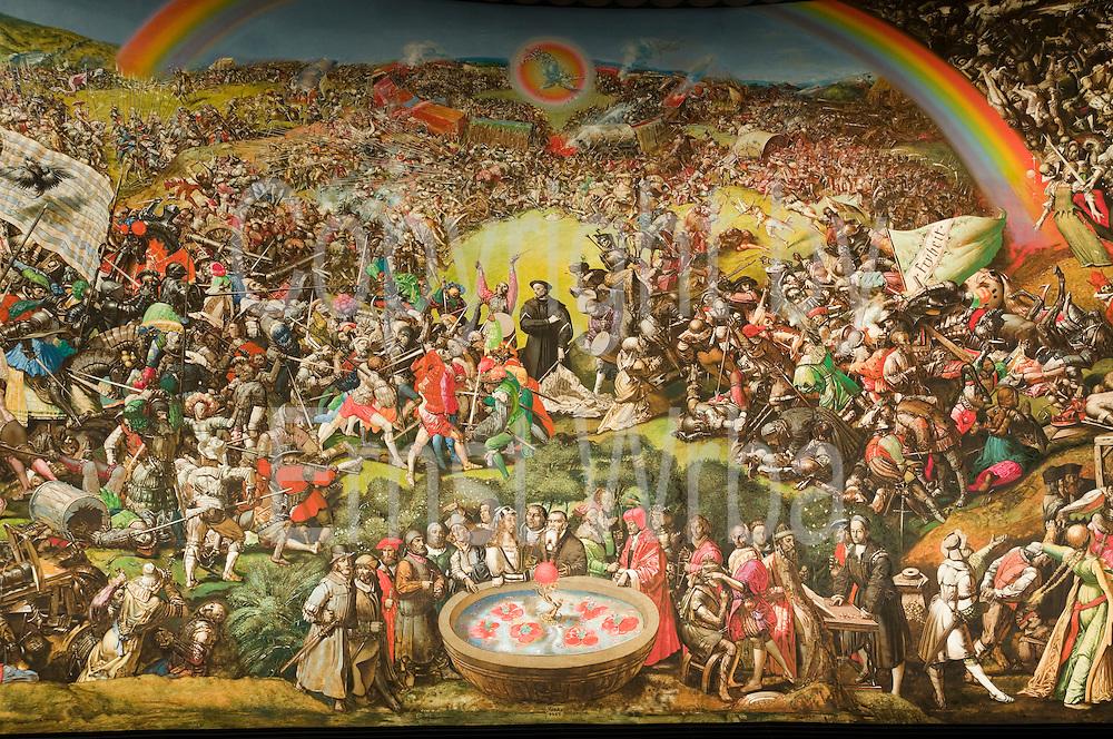 Panorama Gemälde im Panoramamuseum, Bad Frankenhausen, Kyffhäuser Gebirge, Harz, Thüringen, Deutschland | panorama painting, Bad Frankenhausen, Kyffhäuser hills, Harz, Thuringen, Germany