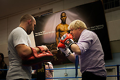 2014-10-28 Boris Johnson steps into the ring at Fight For Peace boxing academy