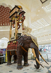 Elephant statue at India Court at Ibn Battuta shopping mall in Jebel Ali district Dubai United Arab Emirates