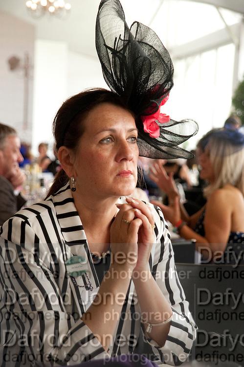 MRS. ROBERT PAIN, Fashion shows in the Besborough Restaurant during Ascot week. Ascot. Tuesday 16 June 2009.