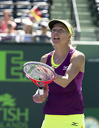March 22, 2018 - Key Biscayne, Florida, United States Of America - KEY BISCAYNE, FL -MARCH 22: Johanna Larson on day 10 of the Miami Open at Crandon Park Tennis Center on March 22, 2018 in Key Biscayne, Florida. ...People:  Johanna Larson. (Credit Image: © SMG via ZUMA Wire)
