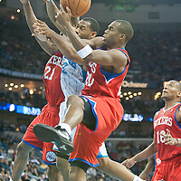 PHILADELPHIA 76ERS VS NEW ORLEANS HORNETS 01.03.2011