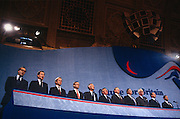 Tory government and cabinet members of British Prime Minister, John Major at the Conservative party conference on 11th October 1991 in Blackpool, England.